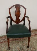 A Sheraton dining elbow chair,