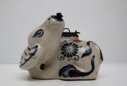 A Chinese porcelain water dropper,