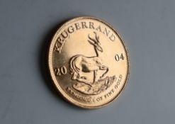 A 2004 gold Krugerrand