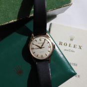 A Gentleman's 9ct yellow gold Rolex wristwatch,
