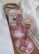 A Sunderland lustre mug decorated with an image of Sunderland bridge,