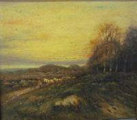 20th century British School Hauling logs Oil on board Together with a collection of paintings and