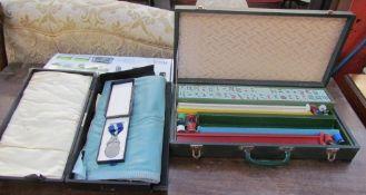 A Mahjong set,