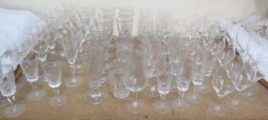A collection of 19th century glasses together with other glasswares