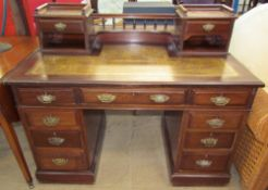 An Edwardian mahogany desk,