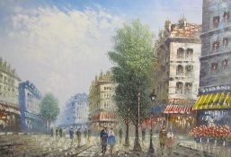 Burnett A Parisian Street Oil on canvas Together with a quantity of paintings and prints