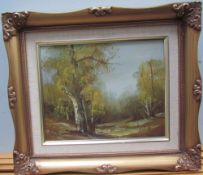 19th century British School A landscape scene Oil on board Together with a collection of pictures