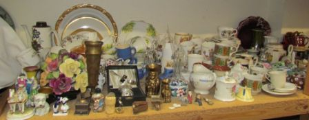 A large lot including an Indian tree pattern part tea and dinner set together with miniature steins,