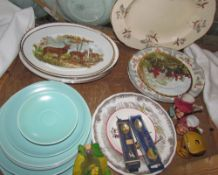 A Poole pottery part dinner set, together with other pottery plates,