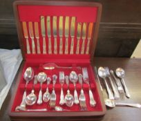 A cased Arthur Price Kings pattern part flatware service,