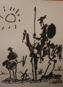 After Pablo Picasso Don Quixote A print Together with a collection of paintings and prints