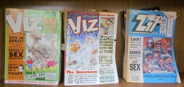 A collection of Viz and Zit magazines