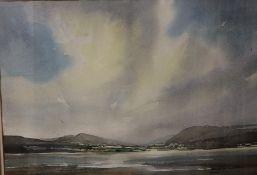 David John Sweetingham Lake Bala Watercolour Signed Together with a watercolour of Tuscany,
