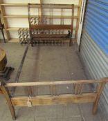 A late 19th century French mahogany framed single bed,