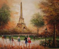 Burnett Paris Oil on canvas Together with maps and prints