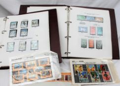 Two albums of New Zealand stamps,