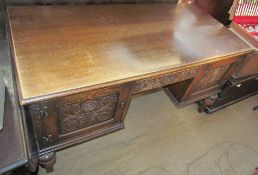 A 20th century oak desk,