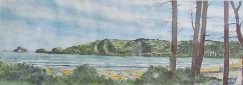 David Hawkins Mumbles from Swansea Watercolour Together with a collection of pictures and prints