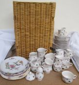 A Villeroy & Boch floral decorated part tea and dinner set together with assorted plates and a