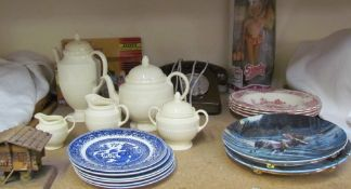 A 1992 Sindy ballerina together with a transformer, telephone, Wedgwood part tea set,