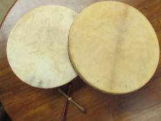Two Irish Bodhran hand drums