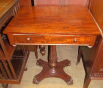 A Victorian mahogany side table,