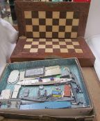 Triang Ships S.S. United States presentation set and additionals, together with a cased chess set.