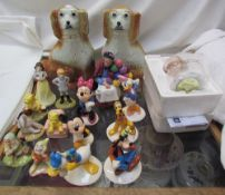 A set of six Royal Doulton Mickey Mouse figures for the 70 years,