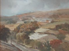 Arthur Miles (1905-1987) Nr Newport Watercolour Signed and dated '71 27 x 36.