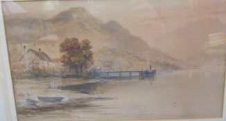 J Berkeley Hewitt Loch Lomond Watercolour Together with a watercolour by S Y Johnson and a