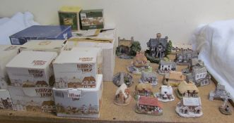 A collection of Lilliput lane cottages together with two other cottages
