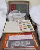 Assorted stamp albums and loose stamps