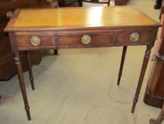 An Edwardian mahogany side table,