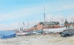 John Howell Boats on Budleigh beach,