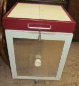 A Phoenix pottery top loading kiln, with cable and controller (sold as seen,