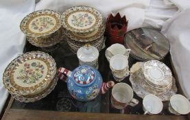 A collection of Royal Doulton series ware plates together with a Copeland part dessert set,