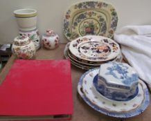 Assorted first day covers together with a Poole pottery vase, ginger jars and coves,