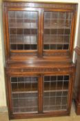 A 20th century oak bookcase,