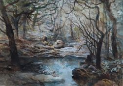 Arthur Miles Woods at Beddgelert Watercolour Signed and label verso 24 x 35cm ****Artists Resale