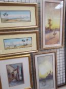 Anton Purigini Near Cairo Watercolour Signed Together with a companion Mosque of Oman, and a