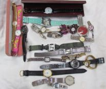 Twenty one assorted fashion watches including D&G, Eve Mon Crois etc