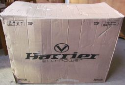 A Harrier Viking Eco-Power folding electric bicycle in black, in original box, unused