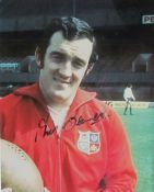 Phil Bennett - a signed photograph Together with a Gareth Edwards signed photograph, Richard Hibbard