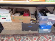 A large collection of jewellery boxes, briefcases etc