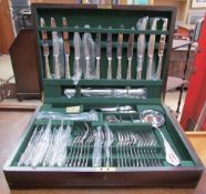 A Thomas Goode & Co Ltd electroplated cased flatware service