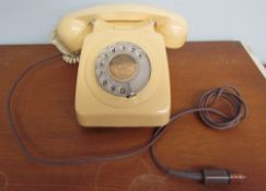 A 20th century cream rotary telephone, No.745F/SPK/74/1