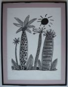 Ken Done Palm trees A limited edition lithograph, No.34/50 Signed in pencil to the margin 76 x 57cm
