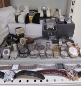 Assorted gentleman's watches including Sekonda, Casio, Rotary, DKNY, Diesel etc
