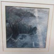 Mark Brown Rocky outcrop Watercolour Together with reproduction maps etc