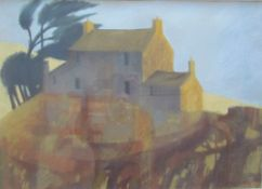 Jill Jeffrey Afternoon, Pembrokeshire Pastels Signed and label verso Together with another